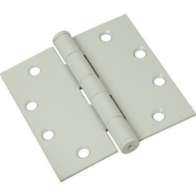 Stanley-National Hardware S820-746 3-Pack 4-1/2-in White Entry Door Hinges