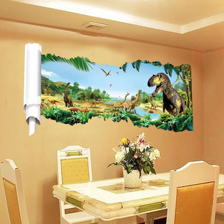 EHOME Jurassic Period Dinosaur Wall Stickers Home Decor Living Room Vinyl Wall Decals Removable Wall Decoration