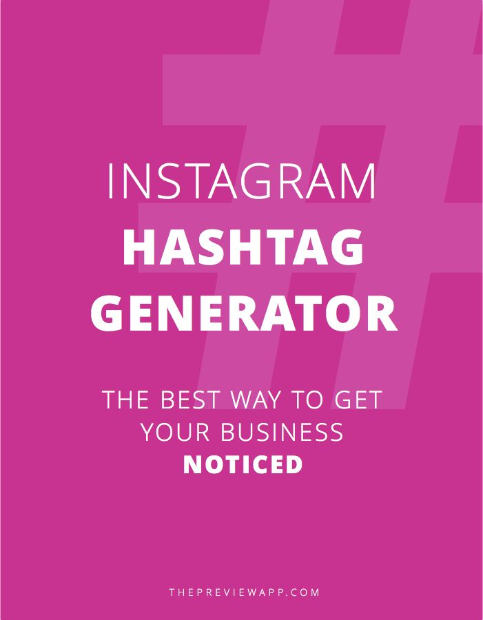 New app and Instagram hashtag generator for bloggers, entrepreneurs, small businesses, photographers and more! All the best Instagram hashtags for bloggers are in Preview App. Enjoy!
