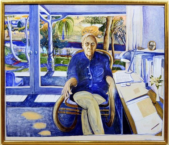 White Whiteley: the portrait of Patrick White by Brett Whiteley