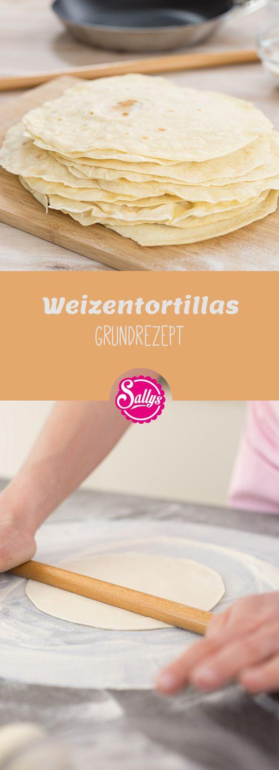 Weizentortillas sind dünne, weiche Teigfladen aus nur 4 Zutaten, mit denen dann Wraps oder Burritos zubereitet werden können.