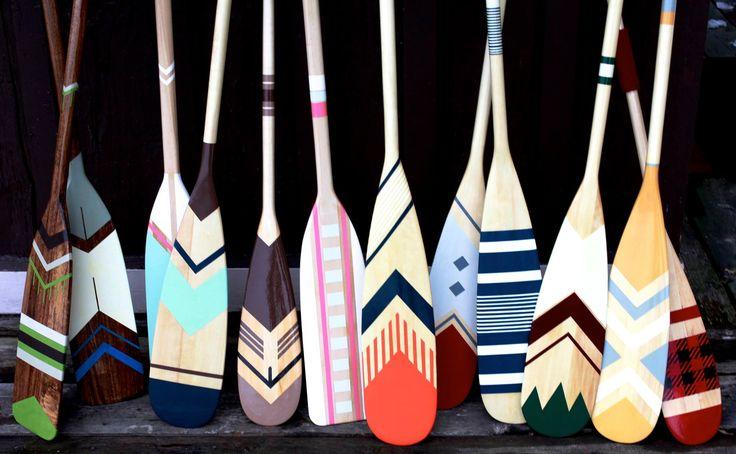 L'entreprise québécoise Ropes and Wood se spécialise dans les pagaies peintes à la main