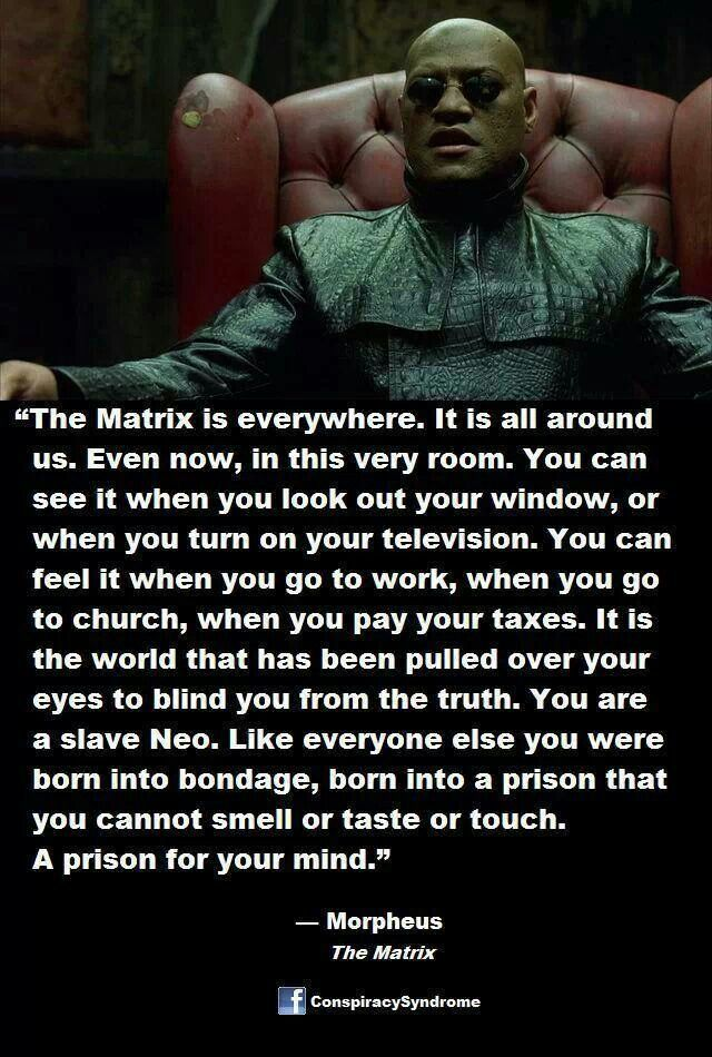 The Matrix is everywhere..