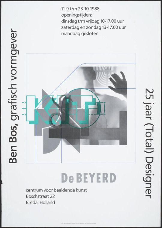 Ben Bos / Collectie NAGO, Ben Bos, grafisch vormgever. 25 jaar (Total) Designer, 1988, Collectie Nederlands Archief Grafisch Ontwerpers