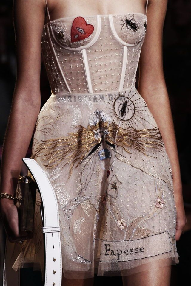 Detail at Christian Dior Spring/Summer 2017, Paris Fashion Week @sommerswim