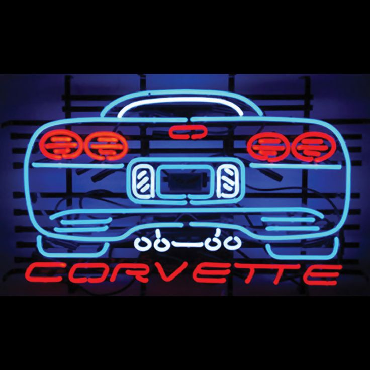 100 best neon lights images on pinterest vintage neon signs watch it speed away corvette neon sign mozeypictures Gallery