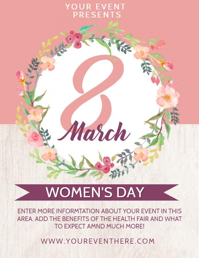 Beautiful International Women\u0027s Day flyer/poster template