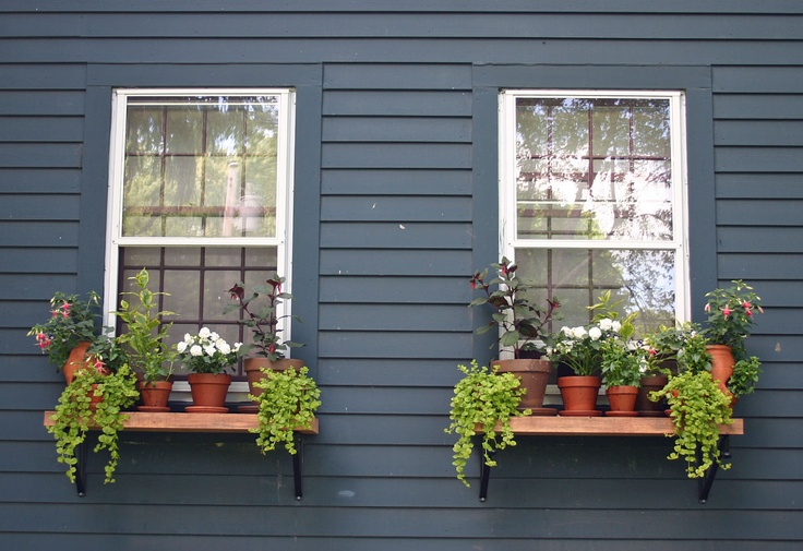 homemade outdoor window shelves always thinking outside the box creative idea 39 s pinterest