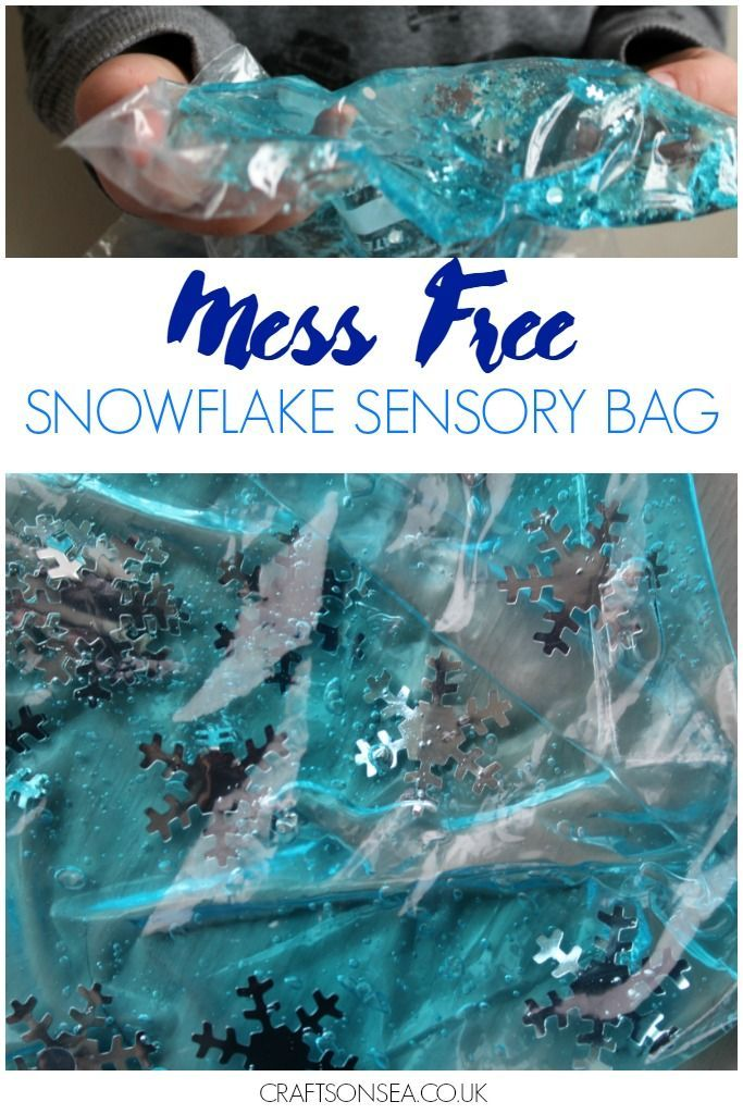 This mess free snowflake sensory bag can be made in two minutes following this easy DIY and can be adapted to make it fun for kids of all ages.