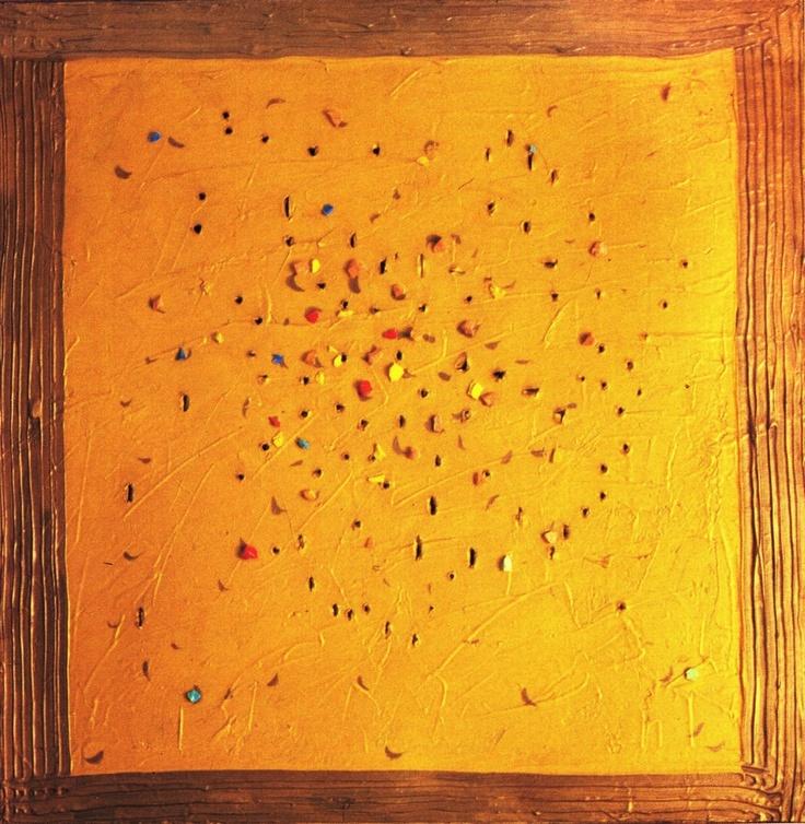 Lucio Fontana, Sun in San Marco square #art #modern #povera #Spatialism #Italy