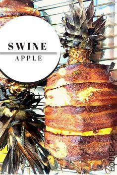 Swineapple: Bacon Wrapped Pineapple Stuffed with Seared Pork Ribs