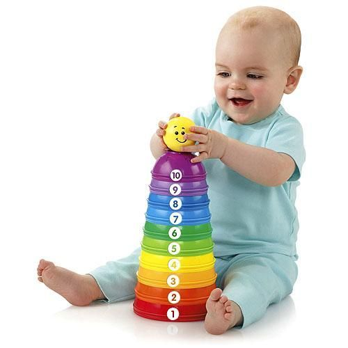 BabyHug | Buy Fisher Price - Brilliant Basics - Stack & Roll Cups online