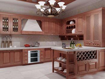 На американский из твердой древесины кухонного шкафа с щит из массива двери привышные цвет