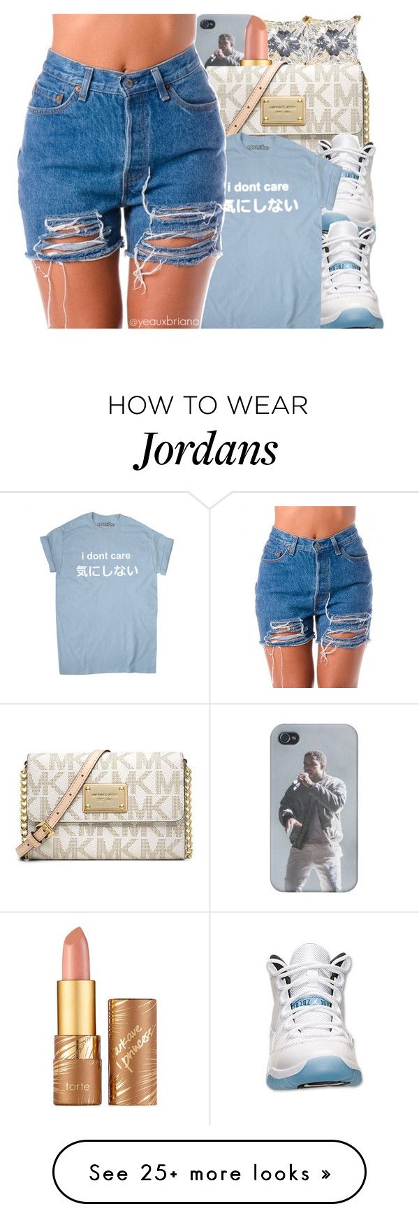 """don't care"" by yeauxbriana on Polyvore featuring tarte, Michael Kors and Retrò"