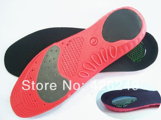 Athletic breathable antibacterial sweat absorbing shock absorption slip-resistant basketball sport shoes pad heel cushion insole