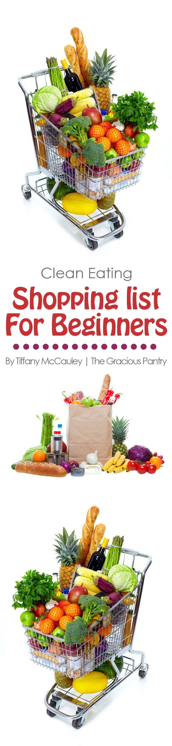 Just getting started with clean eating or need to get back on track? This shopping list can help you navigate the grocery store for clean eating!