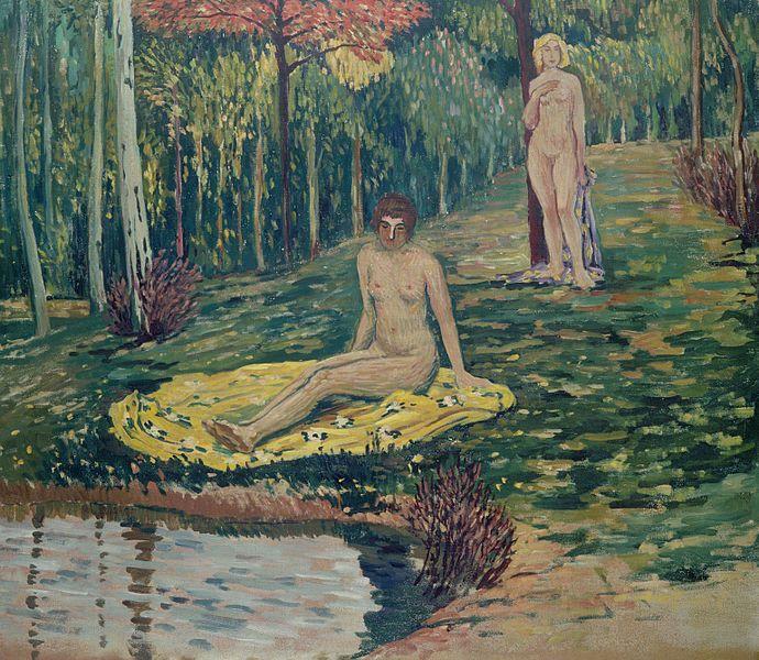 Jan Preisler - Diana hunting, (1908) #art #painting #czechia #symbolism