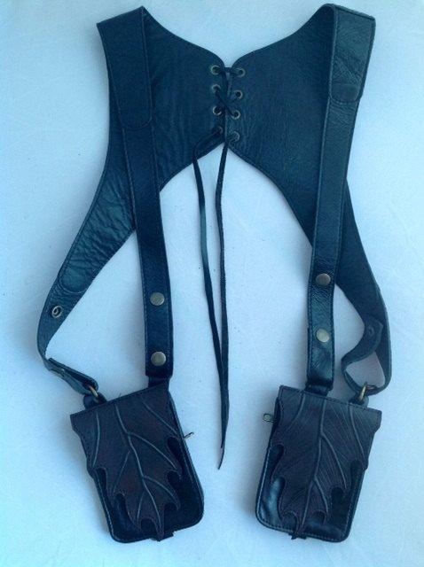SALE Leaf Holster vest by NayturesEmpire on Etsy, $120.00