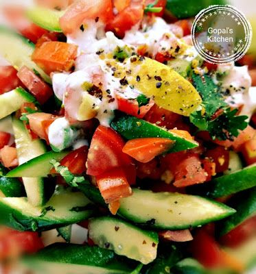Gopal's Kitchen: Persian Cucumber Tomato Salad