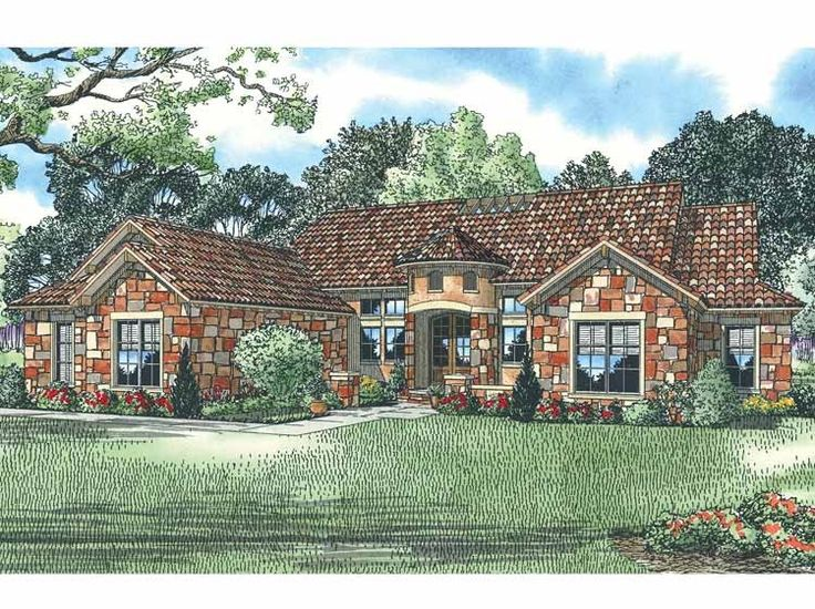French Country House Plan with 2609 Square Feet and 4 Bedrooms ...