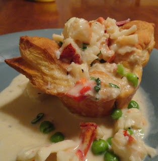 A Couple in the Kitchen: Mini Upside-Down Lobster Pot Pies, or Celebrating New England for the Super Bowl