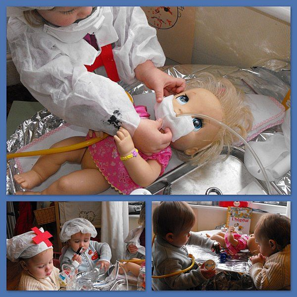 Doctor theme: Pretend play--let the kids be the doctors. Can definitely ease fears and anxiety while allowing the child to become familiar with the procedures