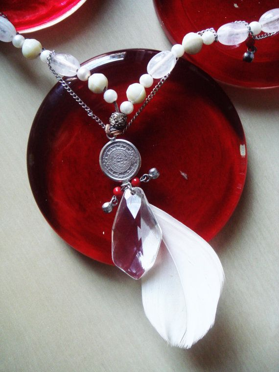 Dreamy White Whisper Necklace by PomPaw on Etsy
