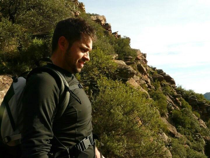 Climbing the garbi peak.