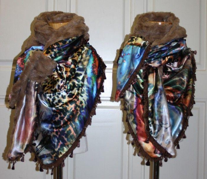 Zelfgemaakte sjaals voor moeder en dochter merk JonginStijl (FB)!!