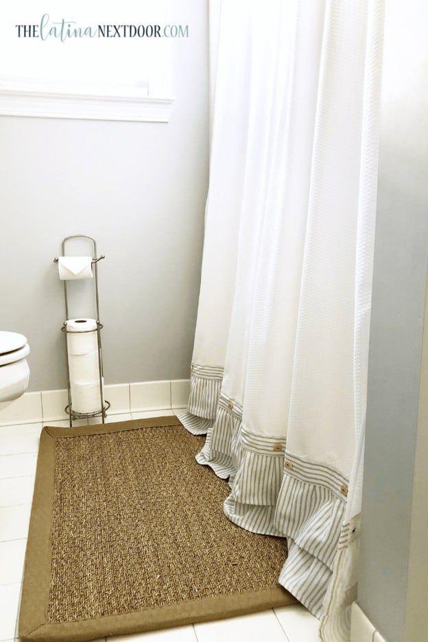 22 Bathroom Curtain Ideas In 2020 With Images Farmhouse Shower