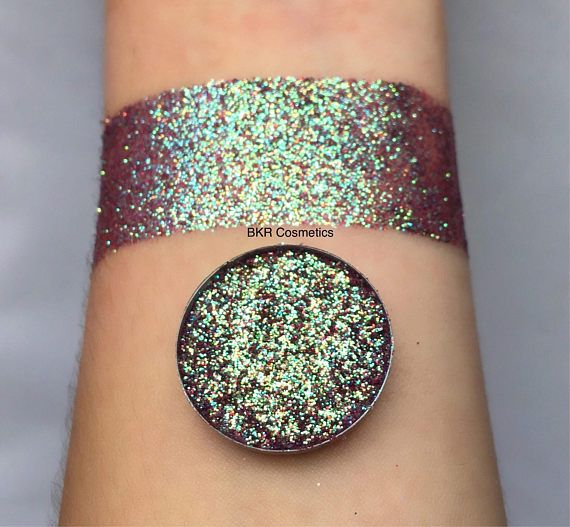 Iridescent Lava storm pressed glitter eyeshadow 26mm magnetic