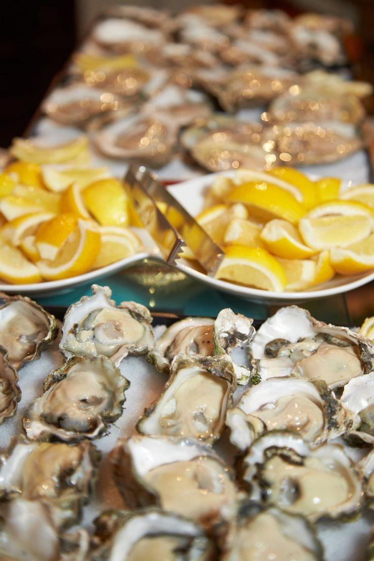 Lemons, oysters