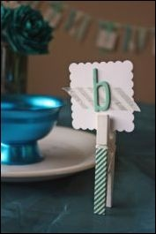 Washi tape clothespin and placecard holder