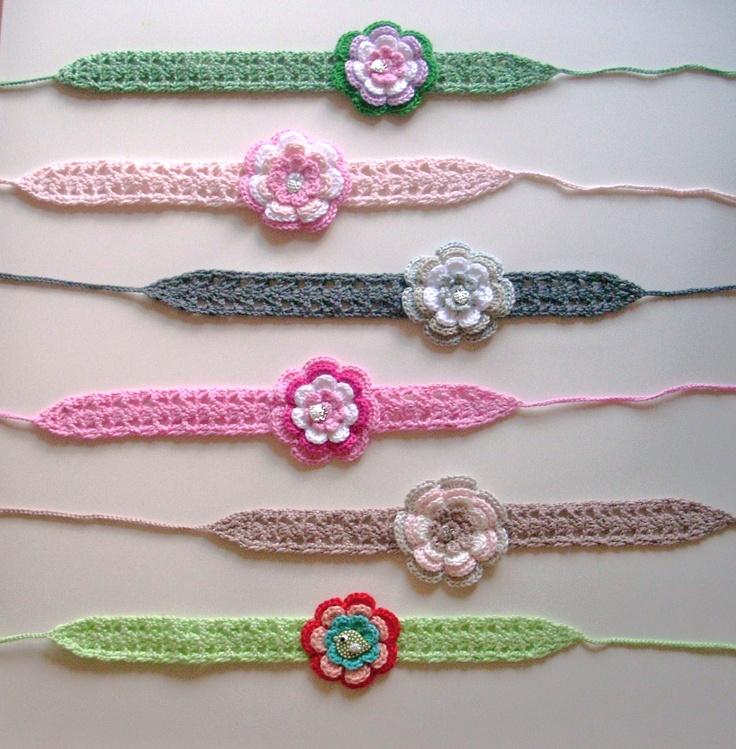 Haarbandjes met 4-laags bloem