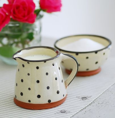 dotted pitcher