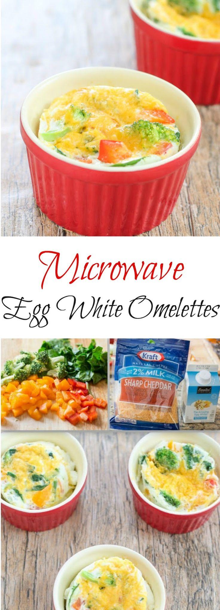 Microwave Egg White Omelets. An easy breakfast