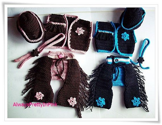 Crochet baby cowboy pattern - Crochet Cowboy- Baby Pattern - Cowboy Chaps - Baby Patterns- western wear - baby crochet cowboy hats
