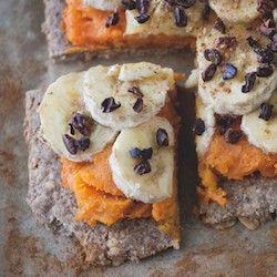 Cinnamon Sweet Potato Banana Pizza | Healthy | Pinterest