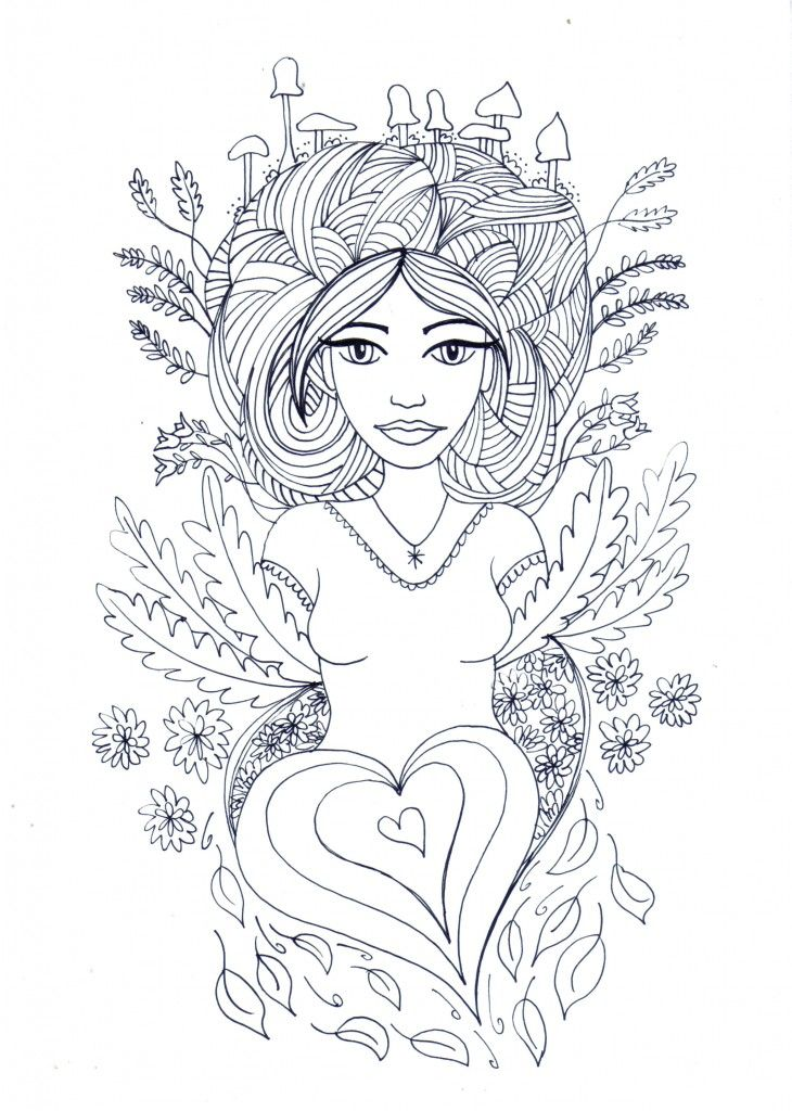 Free Coloring Pages For Adults Mother Earth