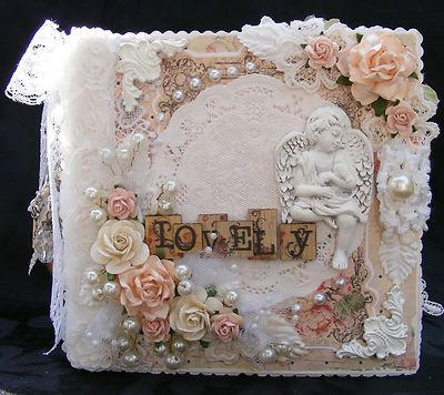 SHABBY CHIC STYLE ALBUM PRIMA ANGEL ANGELS PAPER PIECING SCRAPBOOKING by Toni | eBay