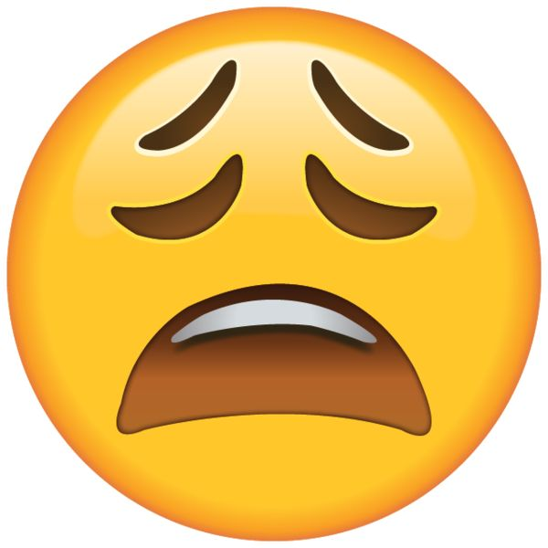 High resolution tired face emoji - You can't see a yawn on the Internet or on your phone, but you can give a hint that you're tired with this sleepy emoji.