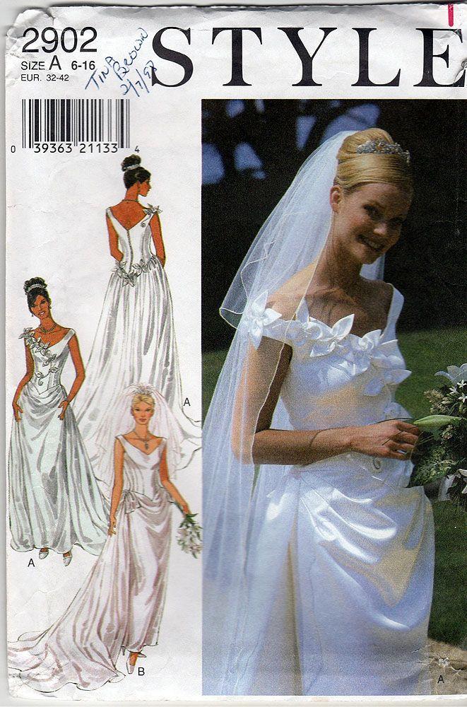 The 1377 best Vintage Bridal Patterns images on Pinterest | Short ...