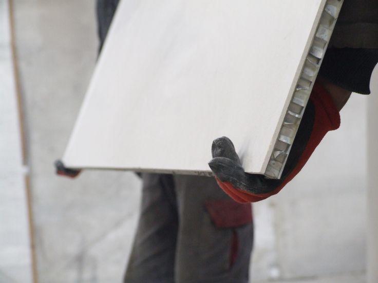 Alüminyum Honeycomb panel ile lamine mermer plaka detay
