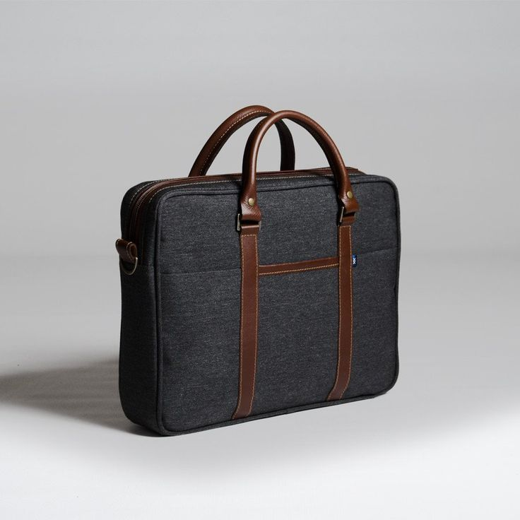The Forge Briefcase in slate by Mother Co. Made in Canada  - $179