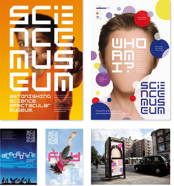 Science Museum London - posters. Design by Johnson Banks