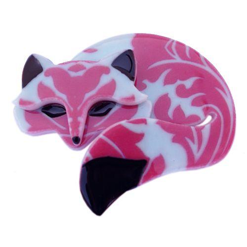 **VERY RARE, LAST ONE!!** Limited edition Erstwilder Saffron the Sleeping Fox brooch by Louisa Camille. $34.95