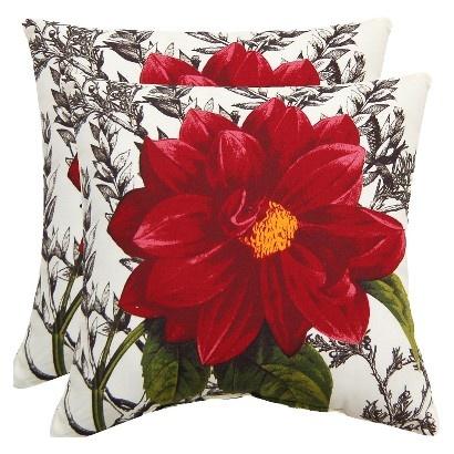 Target Throw Pillows Living Room : Target : Threshold 2-Piece Outdoor Decorative Throw Pillow Set - Dahlia : Image Zoom ...