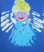 Angels made from their little hands