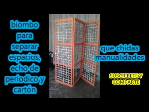 biombo de periodico y cartón -- Newspaper and cardboard screen - YouTube