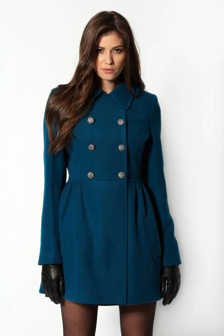 manteau caban femme en laine couleur bleu canard veste manteau pinterest paris. Black Bedroom Furniture Sets. Home Design Ideas